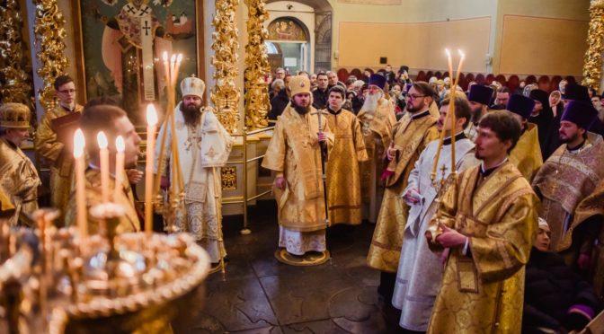 Донской монастырь простился с вл. Парамоном и поприветствовал вл. Фому